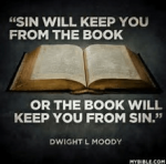 sin will keep away from the book